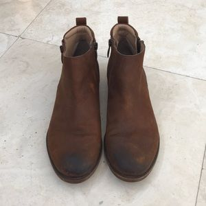 Franco Sarto Leather Booties 8.5